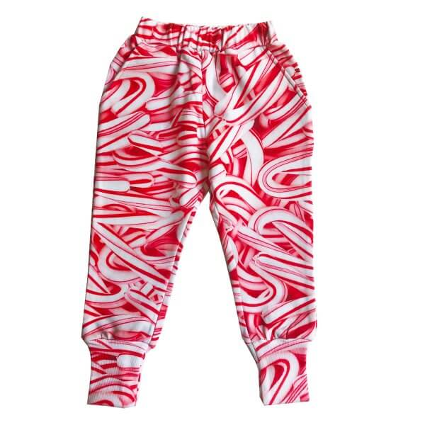 ROMEY LOVES LULU Sweat Pants Long Cuff, Candy Canes