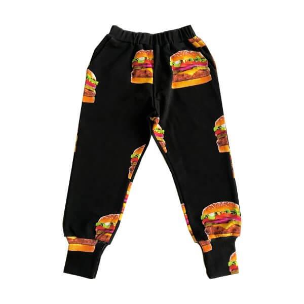 ROMEY LOVES LULU Sweat Pants Long Cuff, Cheeseburgers