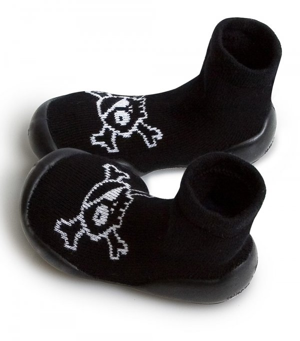 Nununu Collégien Skull slippers black boy