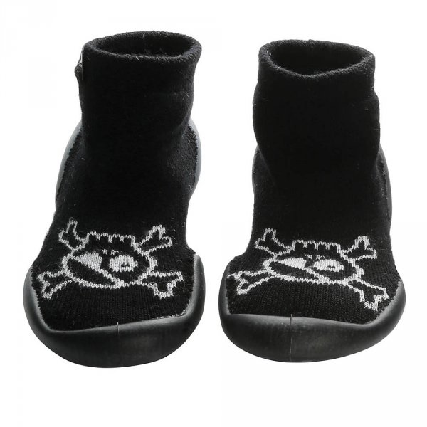 Nununu Collégien Skull slippers black girl