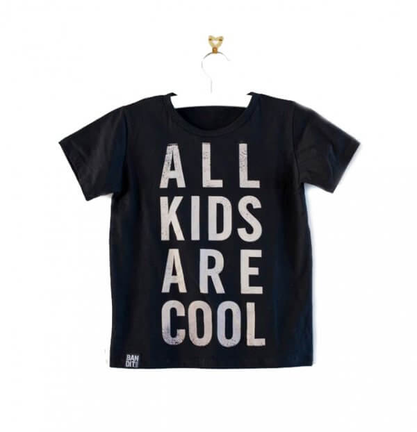 Bandit kids t-shirt schwarz all kids are cool