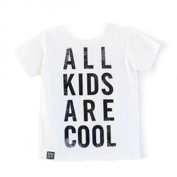 Bandit kids all kids are cool t-shirt weiß vorne