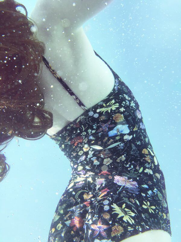 CHRISTINA ROHDE swimsuit flowers