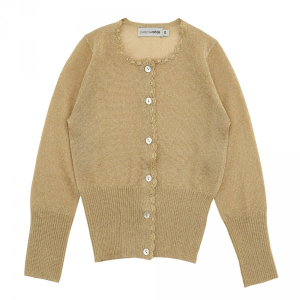 CHRISTINA ROHDE leichte Strickjacke, gold