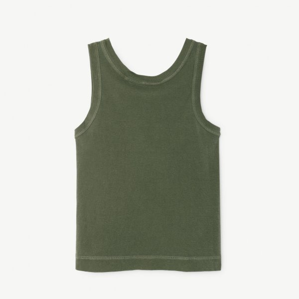 New: THE ANIMALS OBSERVATORY tanktop Frog military green