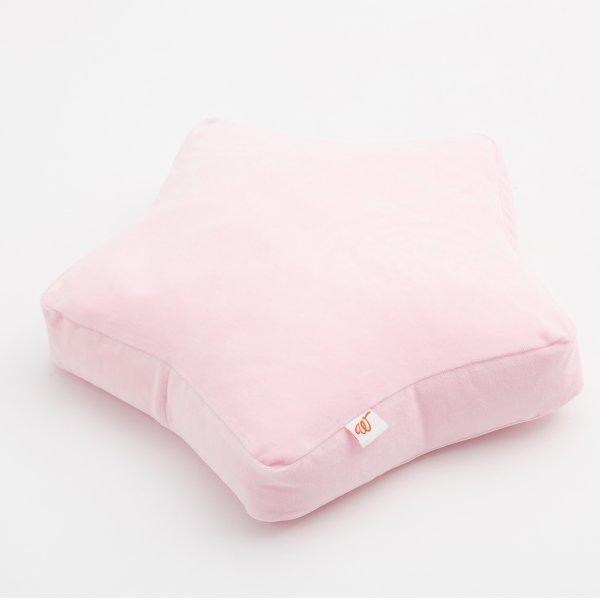 Wigiwama-Bodenkissen-Samt-rosa-Kinderzimmer