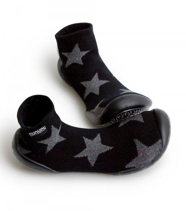 Nununu Collégien Stars slippers black kids