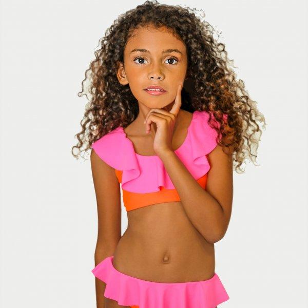 STELLA COVE bikini Neon pink and orange