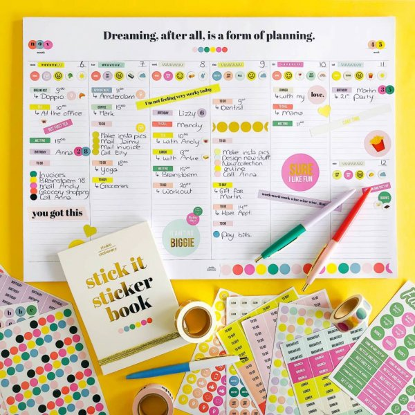 STUDIO STATIONERY sticker desk planner