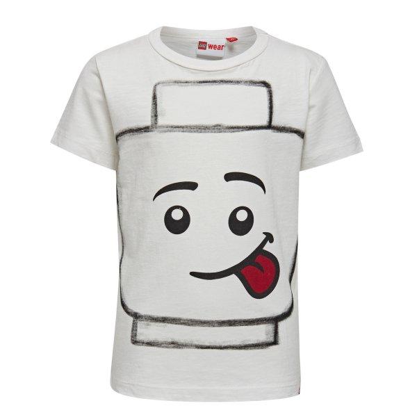 Lego weißes Kurzarmshirt Kinder vorne