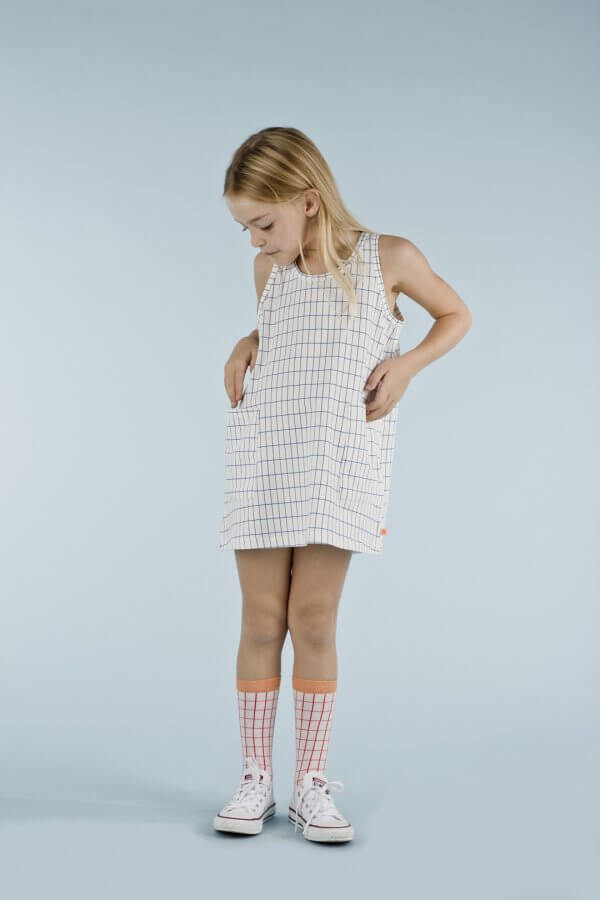 TINYCOTTONS grid tank dress