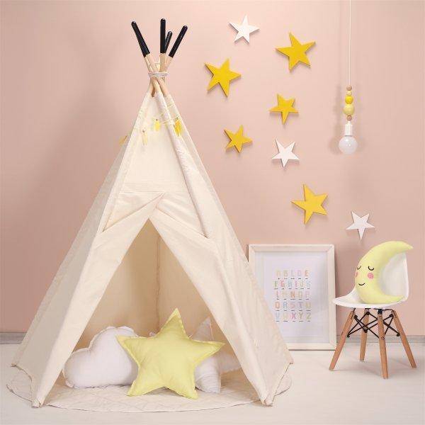 gelbe-Sterne-Kinderzimmer-einrichtung