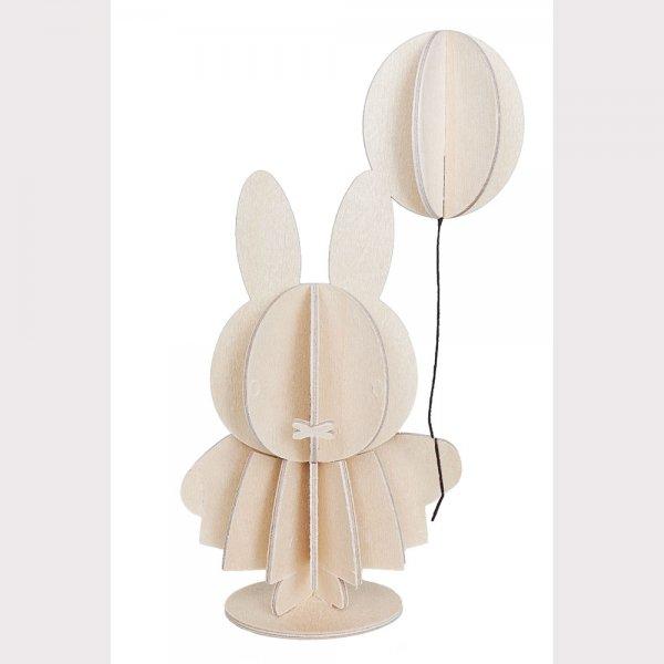 LOVI wooden Miffy & balloon (10 cm)
