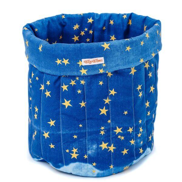 Spielzeugsack-blau-gold-sterne-groß