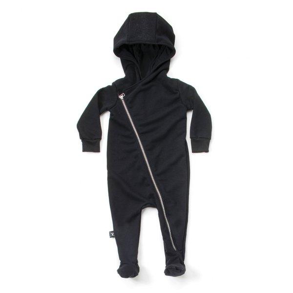 NUNUNU zip footie baby overall