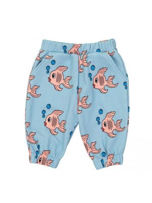 98a4d10d8b HUGO LOVES TIKI knee sweatpants for kids Blue Fish