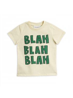 Mini Rodini weißes Kinder-T-shirt Blah Blah Blah