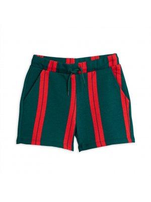 Minirodini_stripe_sweatshorts_green