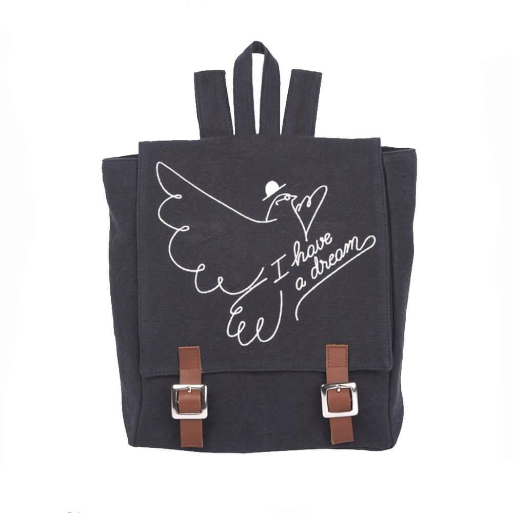 EMILE ET IDA canvas backpack orage