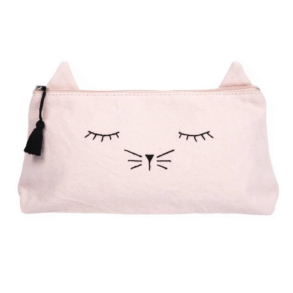 EMILE ET IDA pencil case cat rose