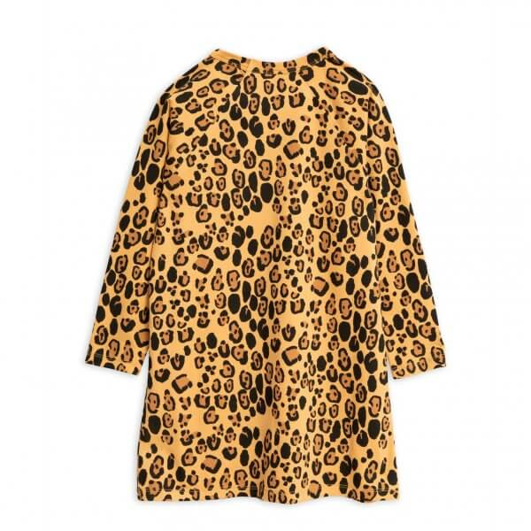 basic leopard jersey dress girl