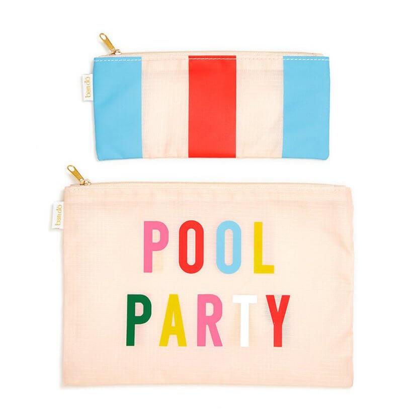 BAN.DO 2 er Taschen-Set, pool party / national stripe