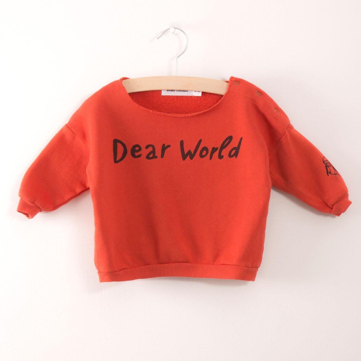 BOBO CHOSES Baby Sweashirt Dear world aus Biobaumwolle