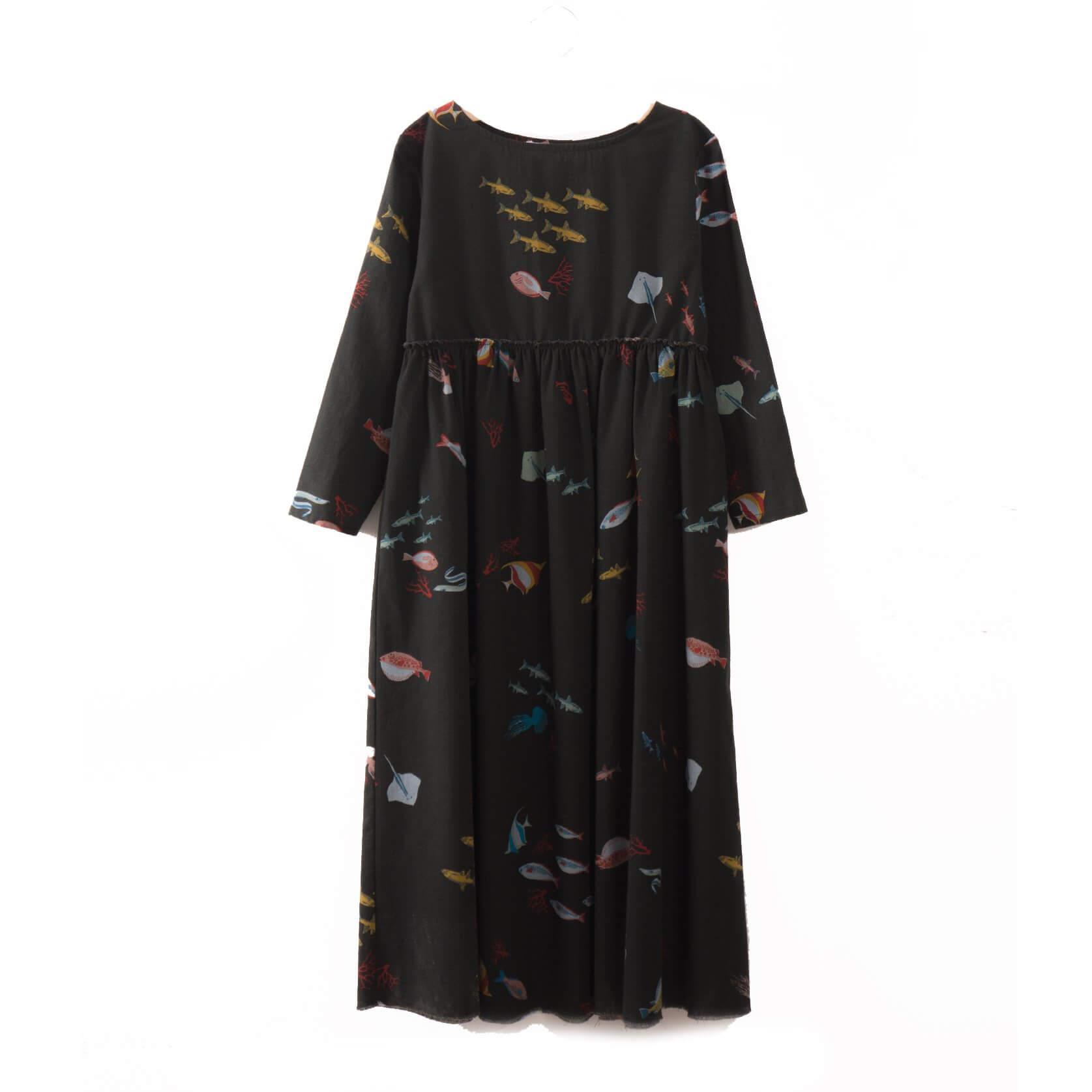 BOBO CHOSES langes Kleid deep sea aus Biobaumwolle