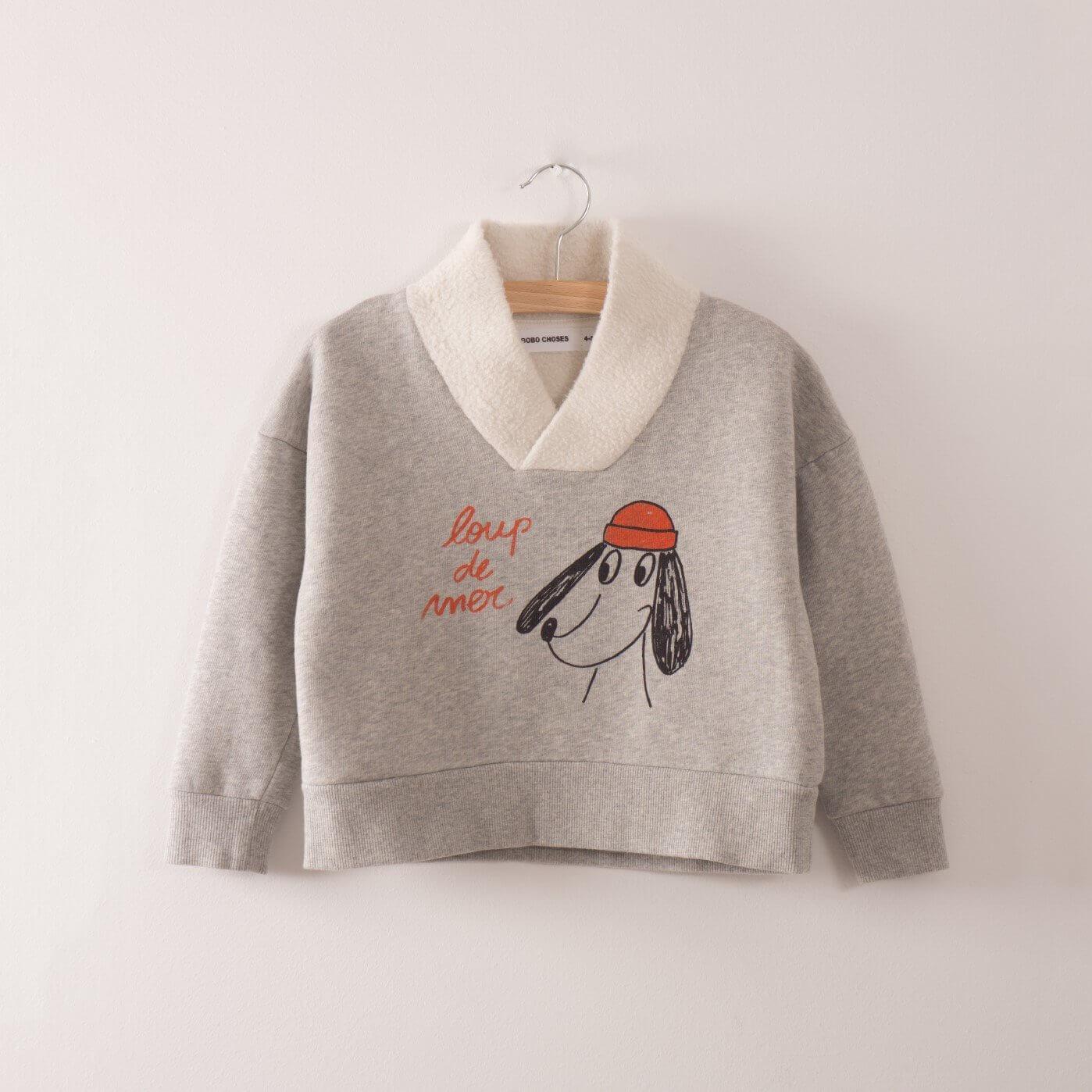 BOBO CHOSES Fisherman/Seemann Sweatshirt Loup de Mer