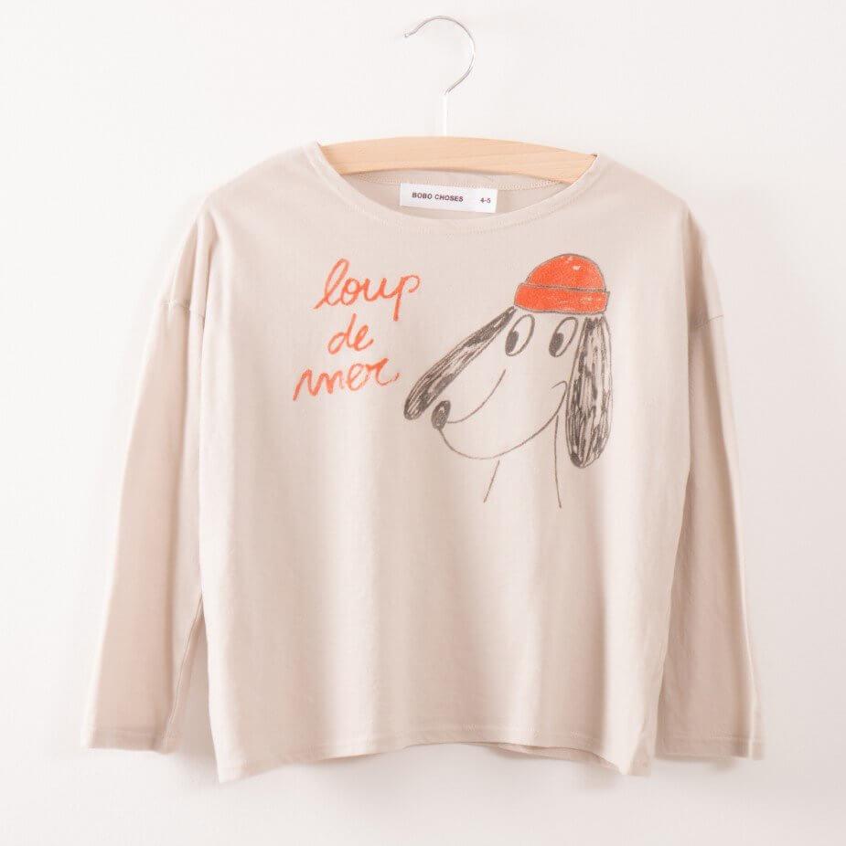 BOBO CHOSES Langarm T-Shirt Loup de mer