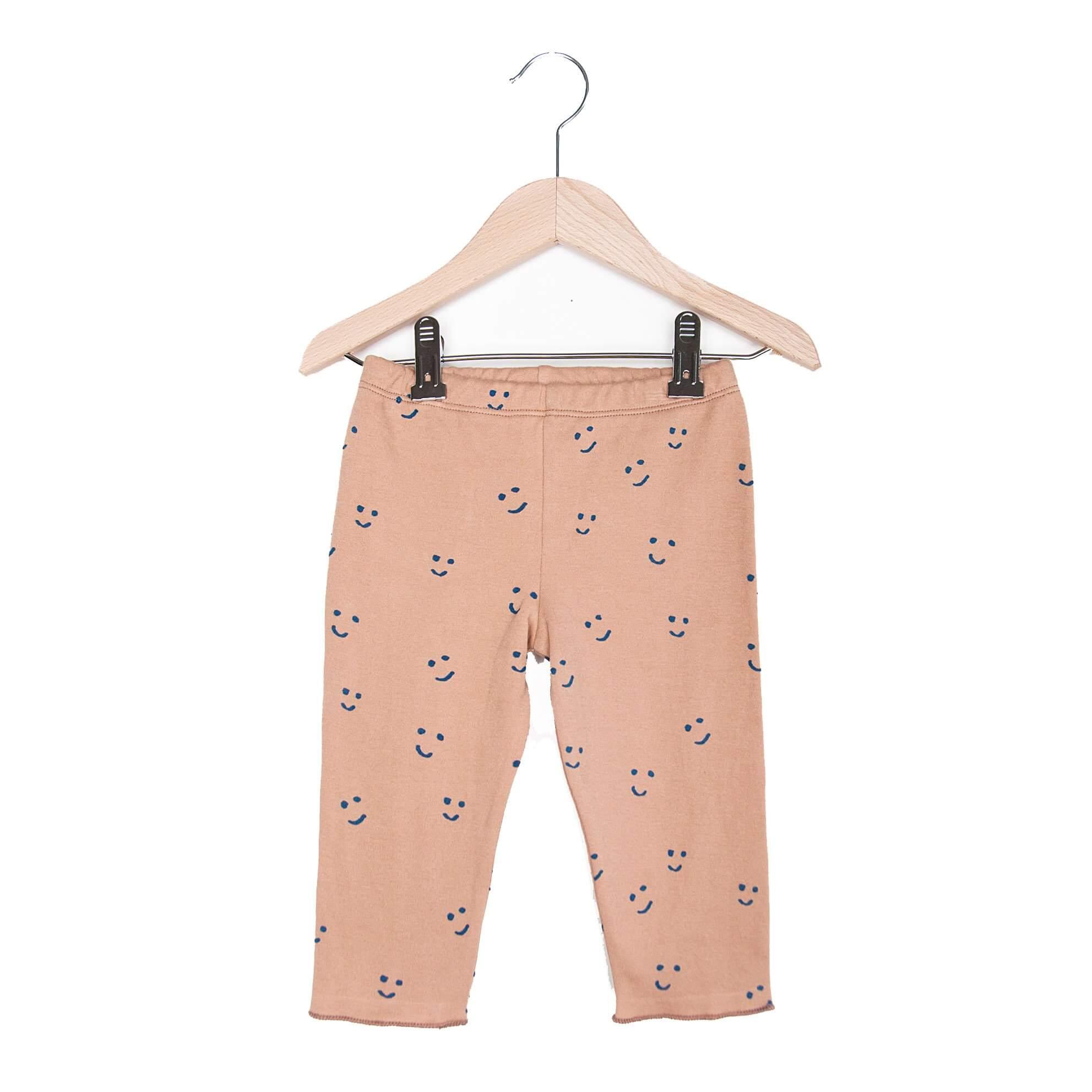 NADADELAZOS baby leggings Happy faces, organic cotton