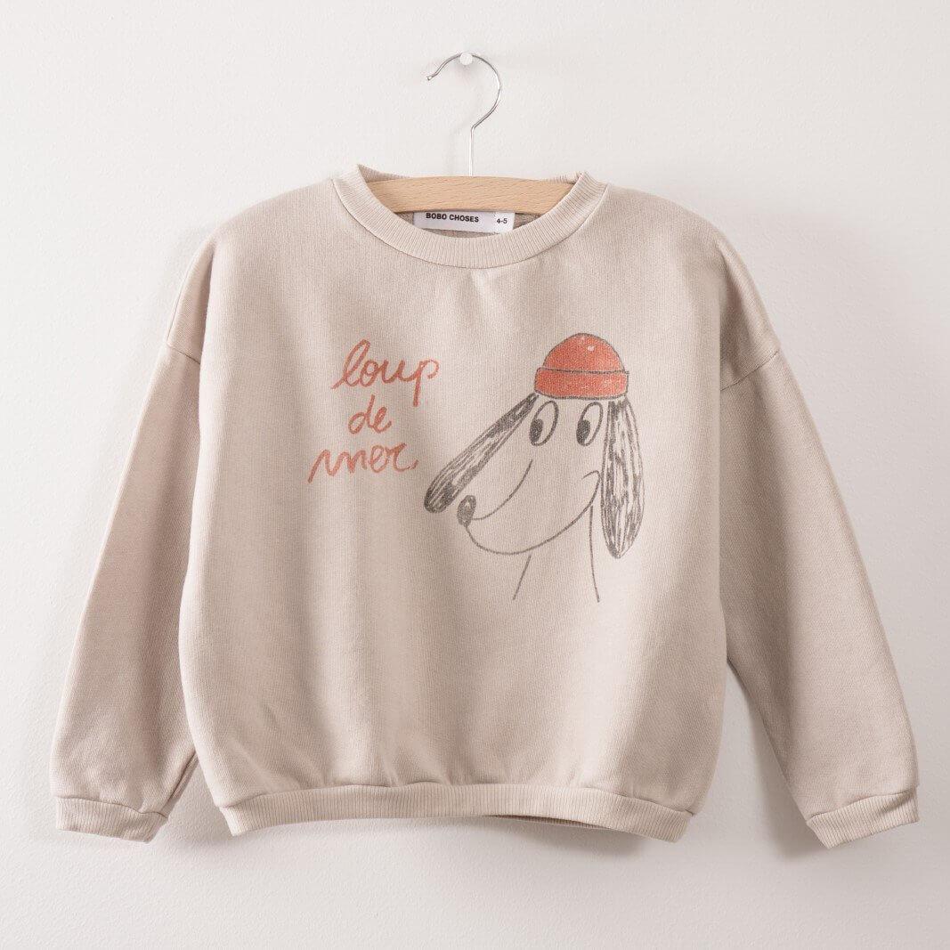 BOBO CHOSES Sweatshirt Loup de Mer
