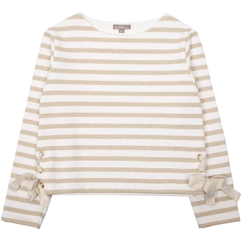EMILE ET IDA sparkling sweatshirt with gold lurex