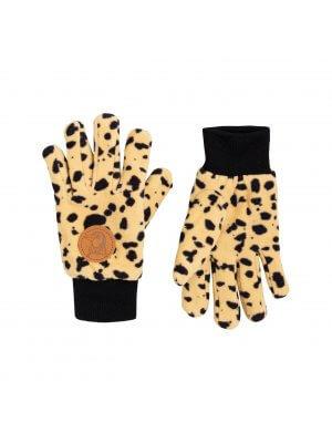 MINI RODINI Fleece Handschuhe im Leopardenlook