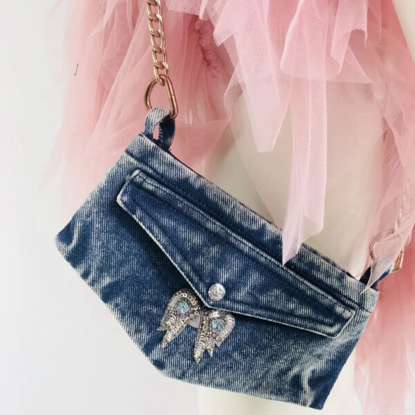 denim bag phone purse teenager