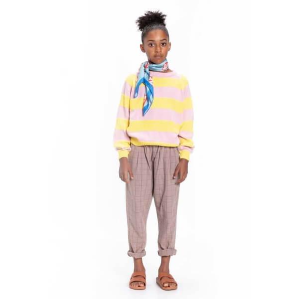 Piupiuchick_checkered_trousers_chidlren_taupe