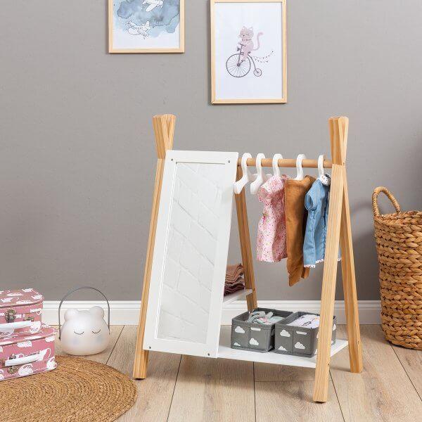"MUSTERKIND® wooden closet ""Barlia"" for dolls"