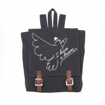 EMILE ET IDA canvas backpack orage