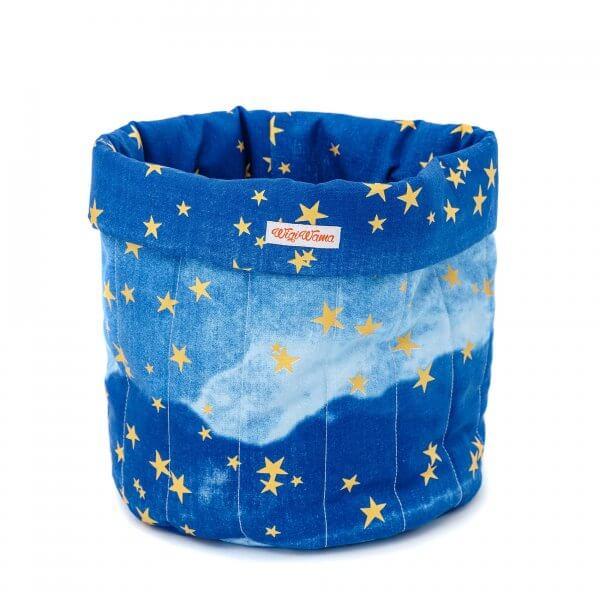 Spielzeugsack-blau-gold-sterne-wigiwama