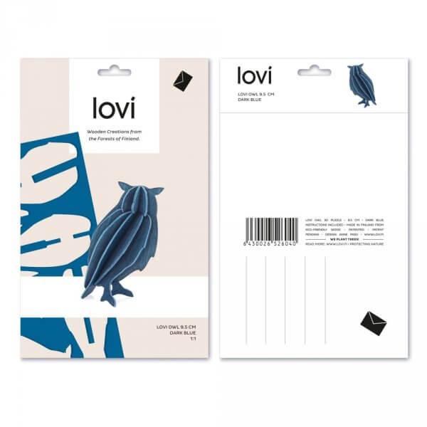 Lovi -graue-Holz-eule-postkarte
