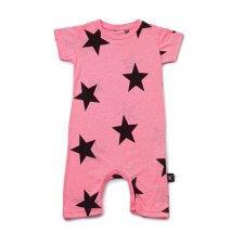 NUNUNU Playsuit Stars Pink
