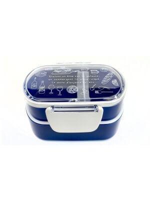 """TAKENAKA Doppel Bento Box """"Balade a Paris"""". Mini."""