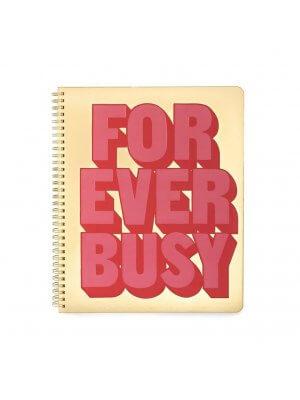 "BAN.DO großes Notizbuch ""Forever busy"""