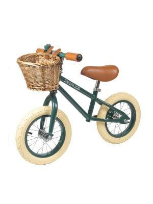 Banwood Kinder Laufrad First Go! mit Körbchen in Grün