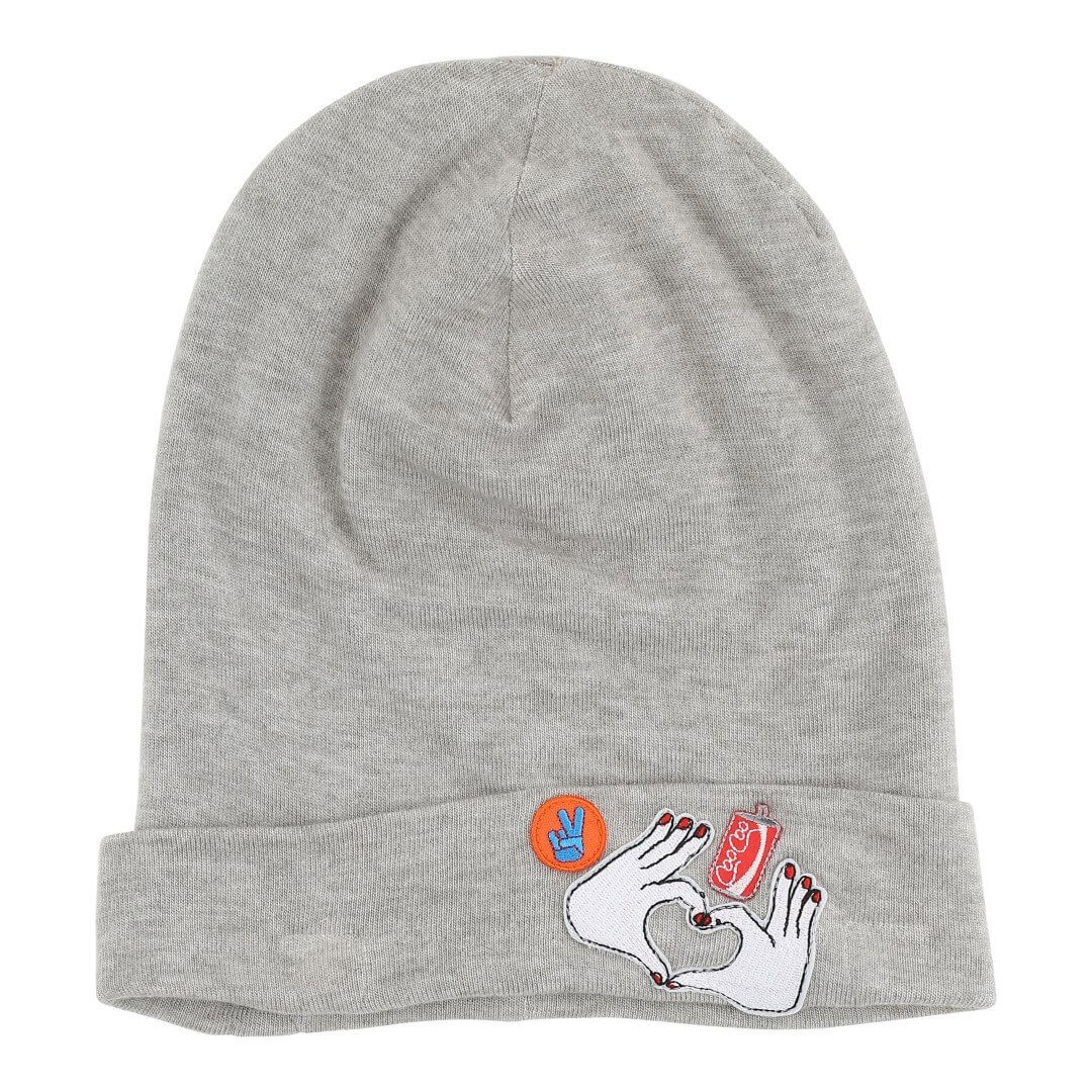 CHRISTINA ROHDE wool beanie with badges