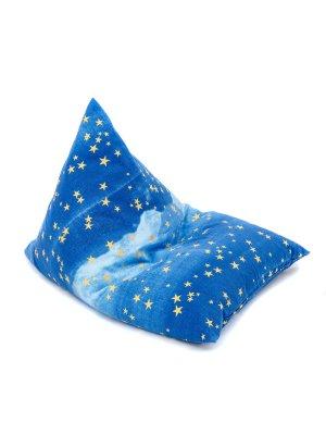 Wigiwama blauer Sitzsack mit goldfarbenen Sternen