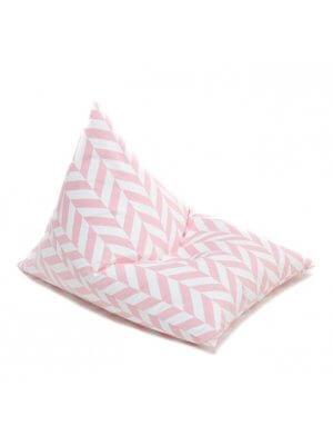 Wigiwama rosa Sitzsack mit Fischgrätenmuster, Biobaumwolle