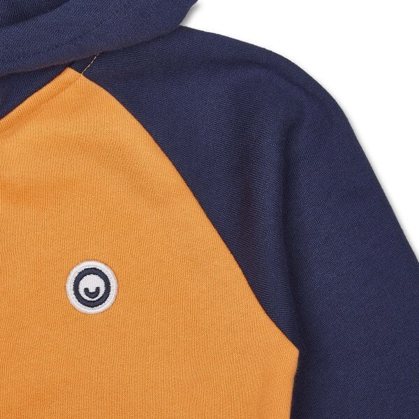 Manitober_sweatjacke_kapuzenjacke_kinder_Orange/Blau_biomode