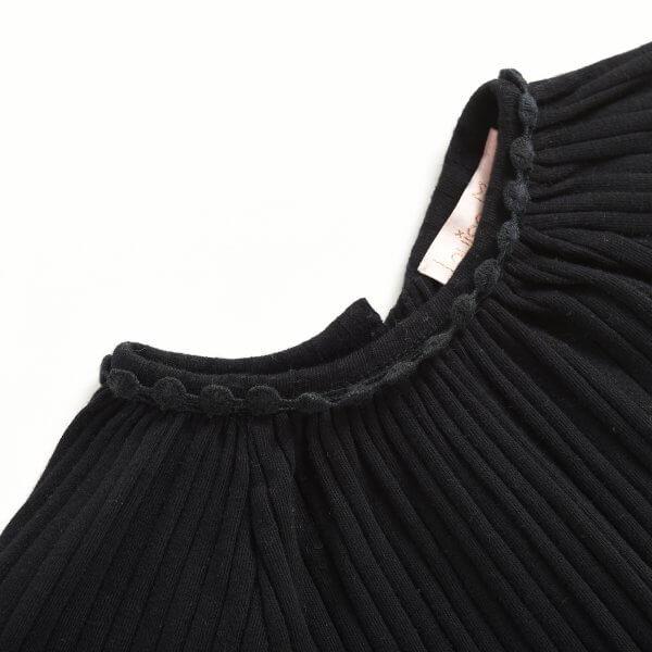 Louise Misha schwarze Bluse Willia detail
