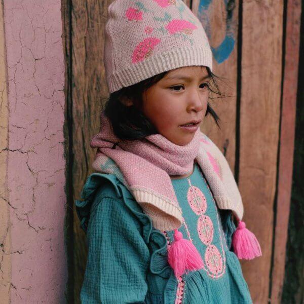 Louise Misha Kinderkleid paracas lichen Boho stil